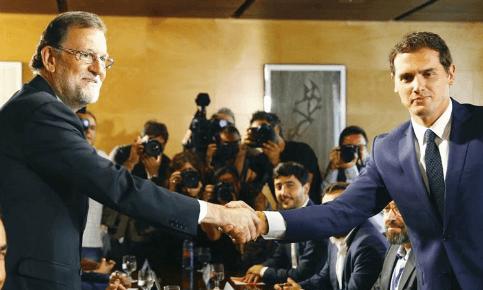 Foto de Rajoy y Rivera sellan un acuerdo de investidura y concretan 150 reformas