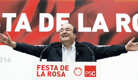 Foto de Iceta: Pedro, mantente firme y líbranos del PP y de Rajoy, por Dios